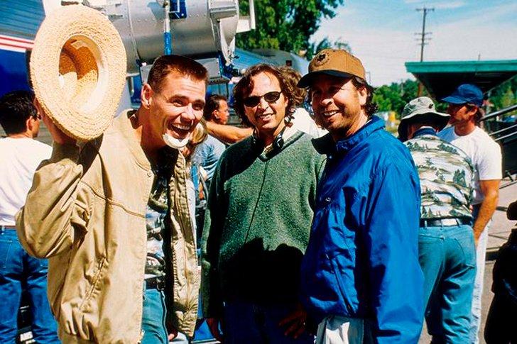 Джим Керри на съемочной площадке «Я, снова я и Ирэн»