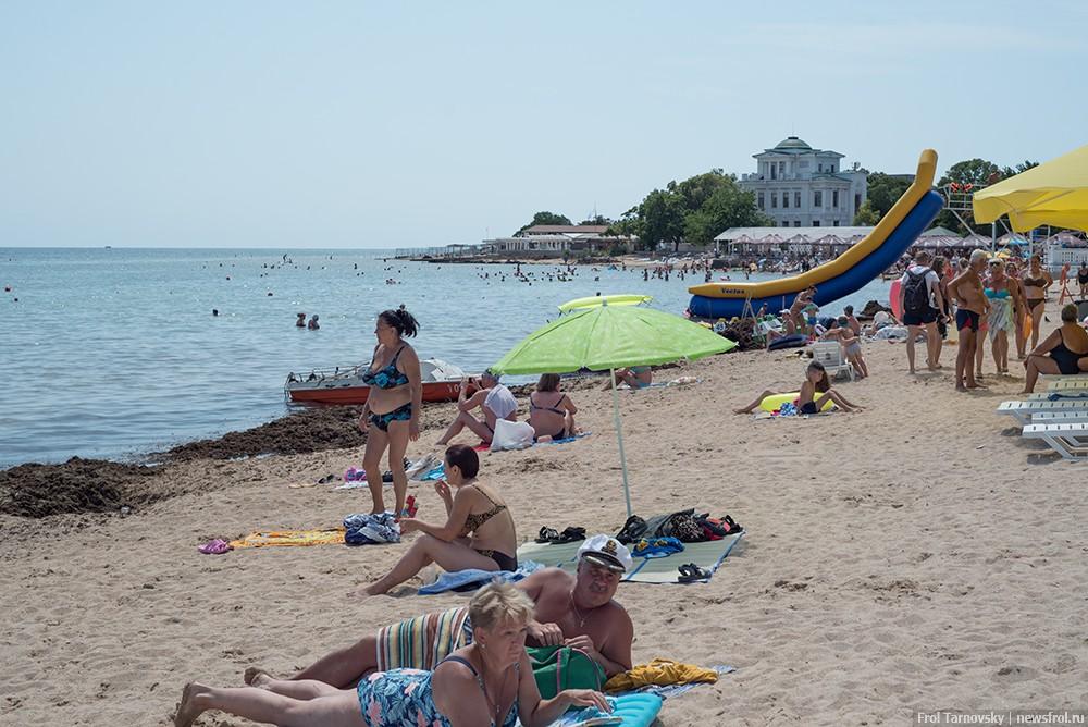 Городской пляж в Евпатории