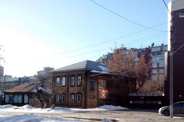 Старинные домики Барнаула.