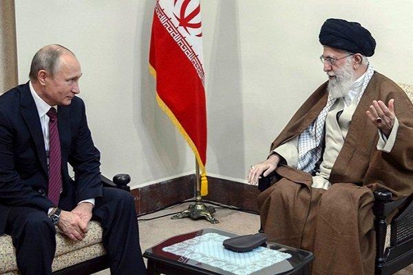 Аятолла Али Хаменеи и Владимир Путин