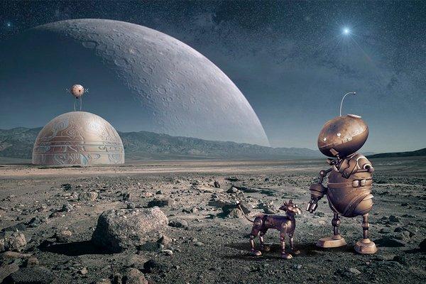 Футуристическая Луна
