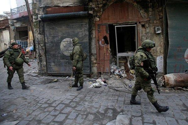 Российские войска в Алепо, Сирия, 2017г