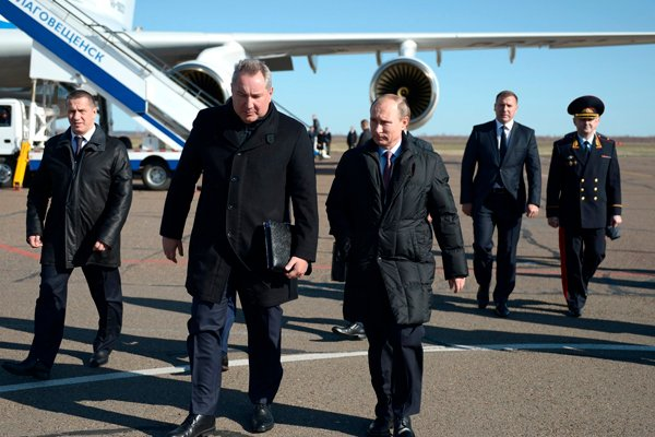 Визит президента России Владимира Путина в 2015 году на космодром «Восточный»