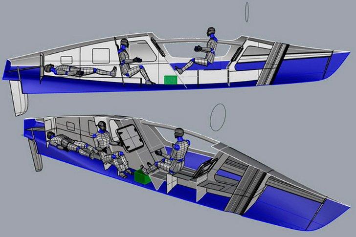Конструкция лодки Федора конюхова «Акрос», на которой будет совершена кругосветка