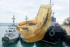 Украинские корабли с украденными унитазами