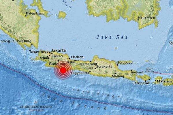 Землетрясения магнитудой 6,8 случилось наострове Ява вИндонезии