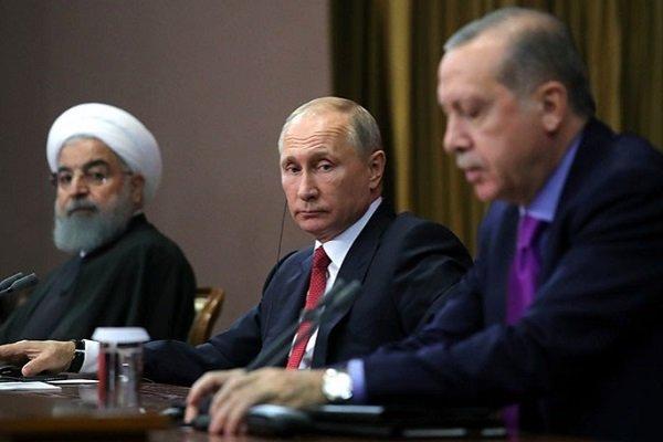 Путин, Эрдоган, Рохани в Сочи