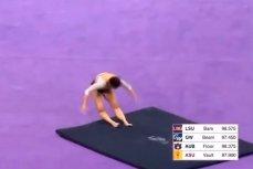 Американская гимнастка Саманта Керио сломала обе ноги при исполнении прыжка