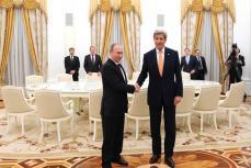 Встреча в Кремле Владимира Путина с госсекретарём США Джоном Керри.