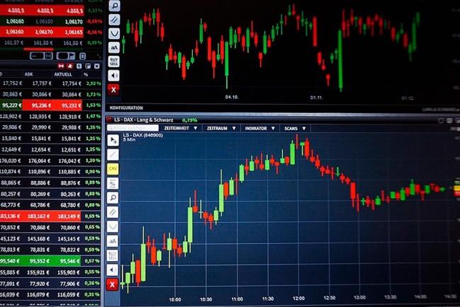 График движения акций на фондовой бирже
