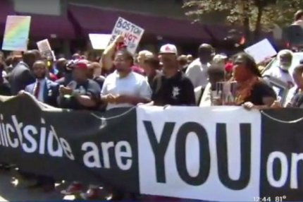 Митинг в Бостоне.