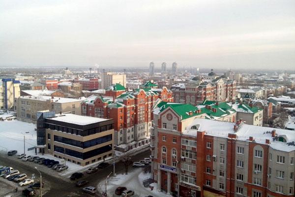Вид сверху. Барнаул.