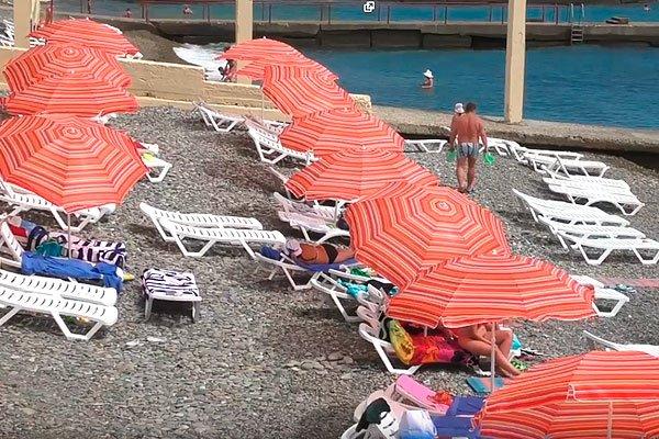 """Пляж санатория """"Актёр"""""""