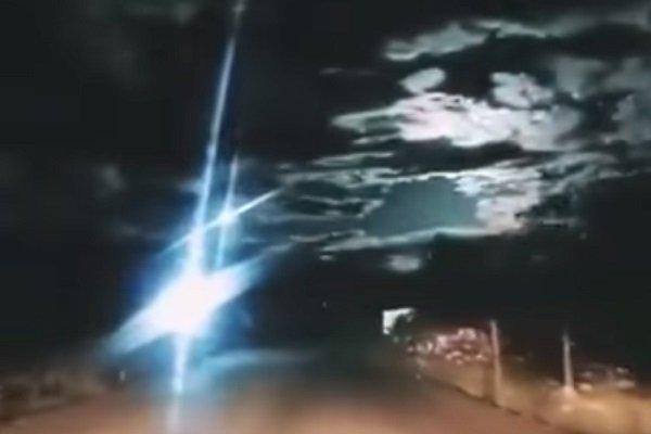Взрыв метеорита внебе над Китаем был снят навидео