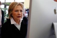 Кандидат в президенты США от демократов Хиллари Клинтон.