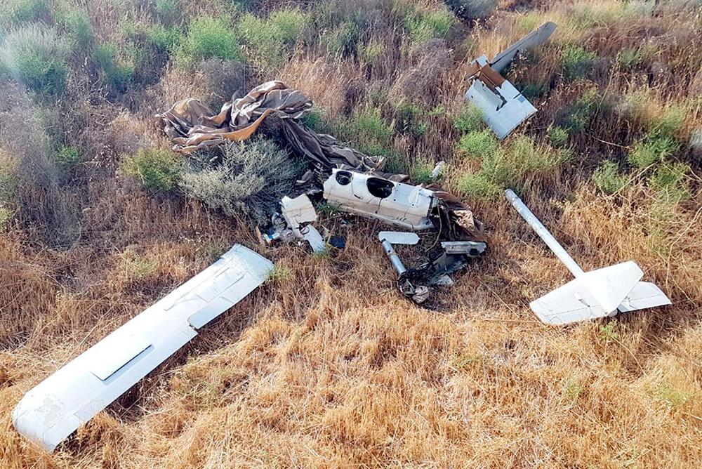 Сбитый азербайджанскими ПВО армянский беспилотник