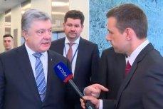 Президент Украины Пётр Порошенко в кулуарах Генассамблеи ООН дал интервью журналисту канала «Россия 1»