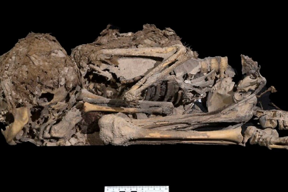 Мумифицированный скелет ребенка