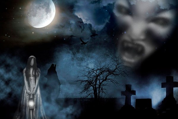 Призраки на кладбище