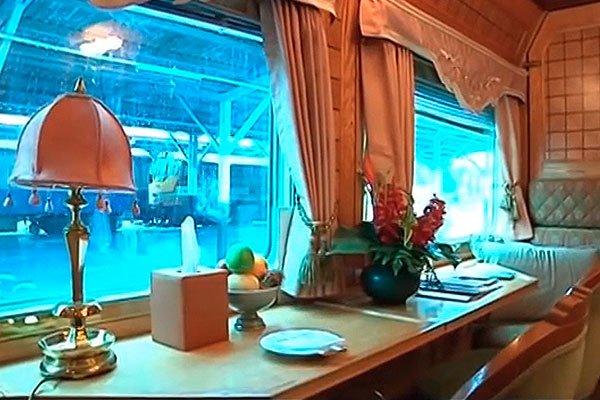 Интерьер вагонов Eastern & Oriental Express