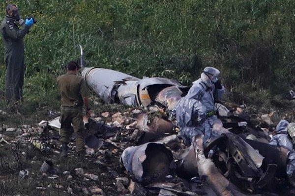 Обломки сбитого F16, Израиль