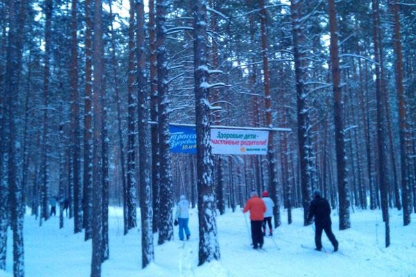 Трасса здоровья в Барнауле.