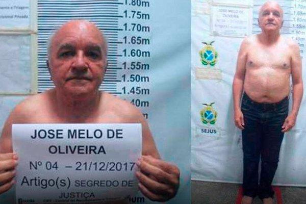 Арестованный Жозе Мело