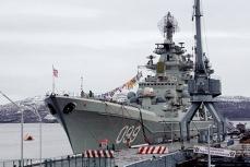 """Атомный ракетный крейсер """"Пётр Великий""""."""