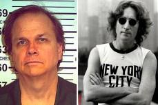 Джон Леннон и его убийца Марк Чепмен