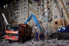 Спасательные работы на месте обрушения дома в Магнитогорске