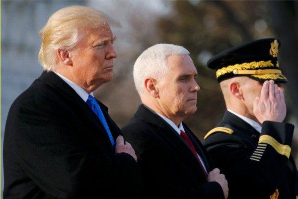 45-й президент США Дональд Трамп приведен кприсяге