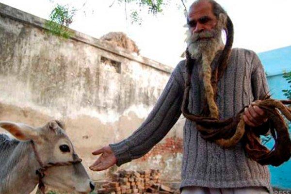 Индийский грязнуля Кайлаш Сингх, который не моется уже 45 лет