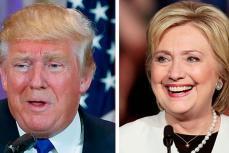 Кандидаты в президенты США Дональд Трамп и Хилари Клинтон.