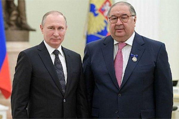Владимир Путин и Алишер Усманов.