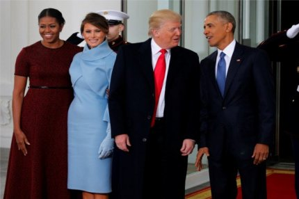Мелания и Дональд Трамп, 20 января 2017.