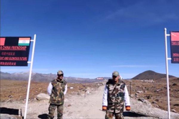 Индийско-китайская граница на плато Доклам.