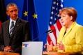 Барак Обама и Ангела Меркель на пресс-конференции в Ганновере.