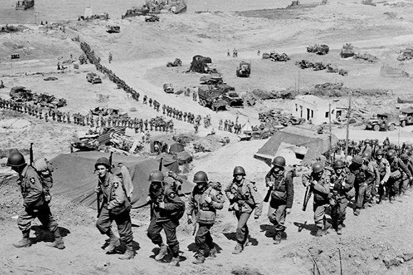 Переброска войск Второй американской пехотной дивизии 7 июня 1944 года из Омаха-Бич в Сен-Лоран-сюр-Мер, Франция