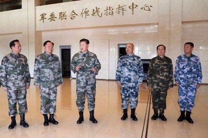 3 ноября 2017 года Си Цзиньпин посещает Объединенный командный центр Центральной военной комиссии