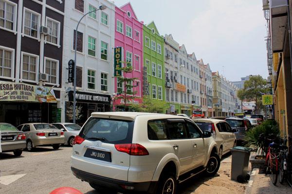 Колониальная архитектура в Малакке, Малайзия.  Голландские дома.