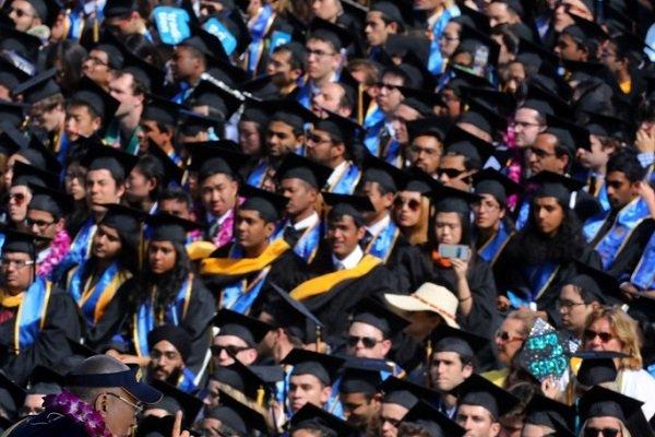 Студенты Калифорнийского университета в Сан-Диего, США