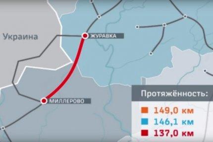 Схема нового железнодорожного участка.