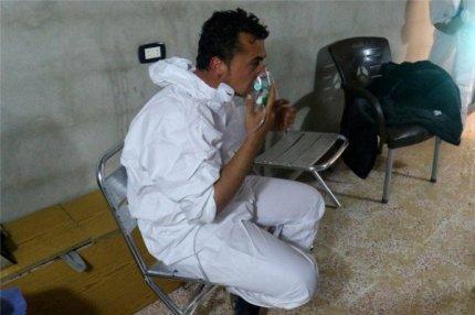 Идлиб, пострадавший от химического отравления.