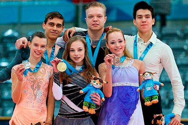 Российские фигуристы взяли призовые места.