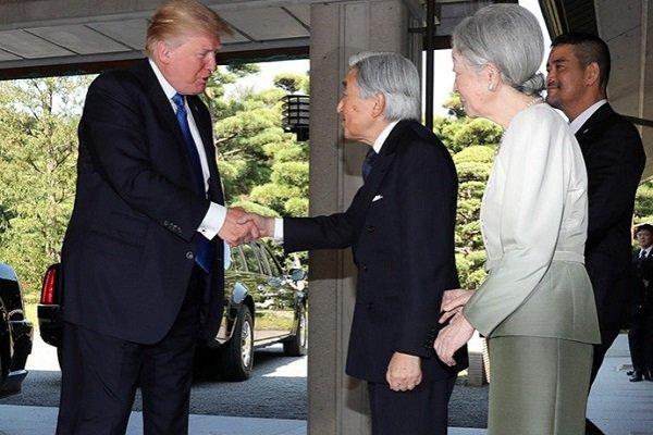 Трамп и японский император Акихито