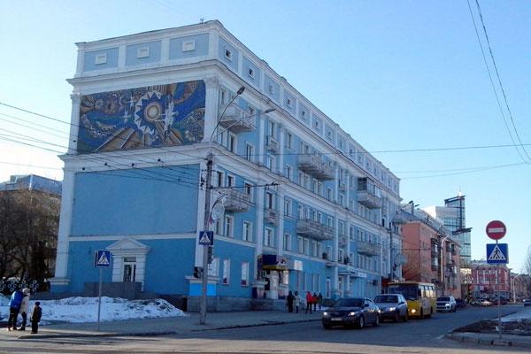 Перекрёсток в Барнауле.