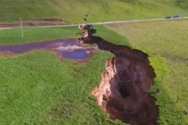 Трещина в земле, Новая Зеландия