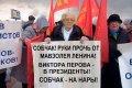 Пикет активистов компартии Коммунисты России