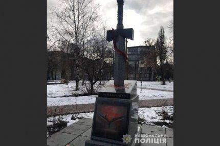 Памятник войнам АТО с дизайном  из «Diablo 3»