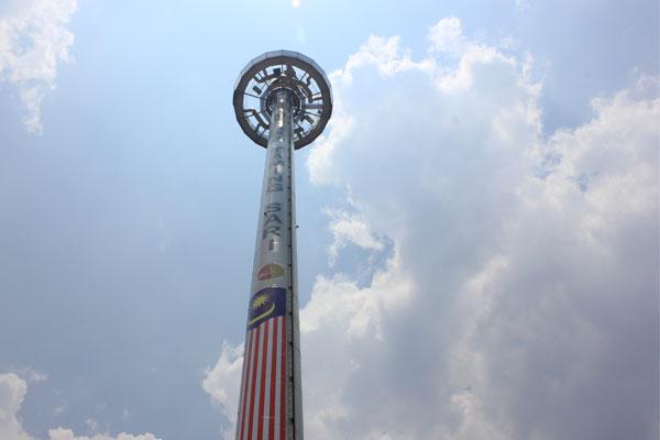 Смотровая башня Menara Taming Sari в Малакке.